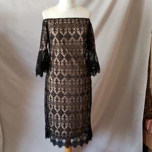 Bare shoulder dress